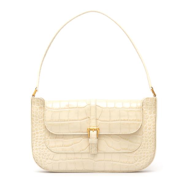 White crocodile effect shoulder bag                                                                                                                   By Far 19FWMDASCEDMED back