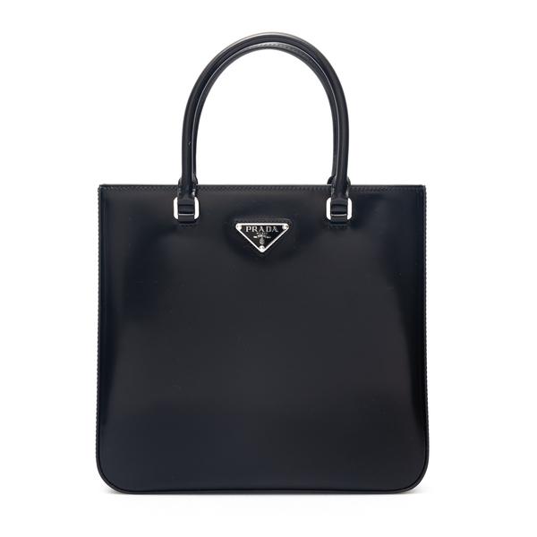 Shiny black tote bag                                                                                                                                  Prada 1BA330 back