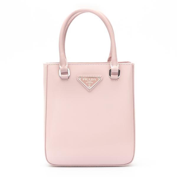 Small pink tote bag with logo                                                                                                                         Prada 1BA331 back