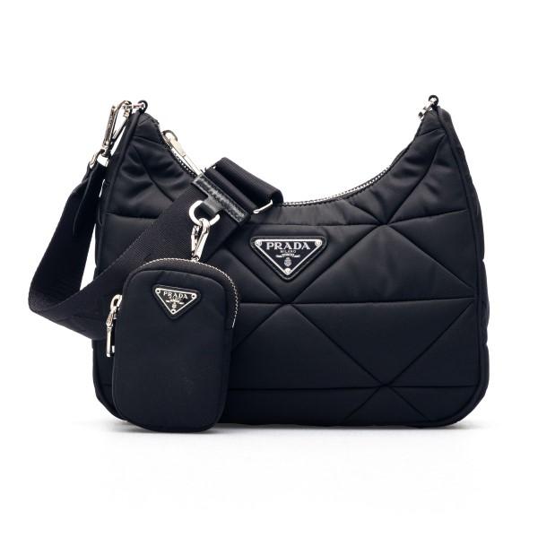 Black quilted shoulder bag                                                                                                                            Prada 1BC151 front