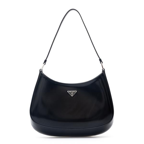 Shiny black shoulder bag                                                                                                                              Prada 1BC499 back
