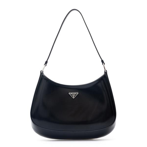Shiny black shoulder bag with logo                                                                                                                    Prada 1BC499 back