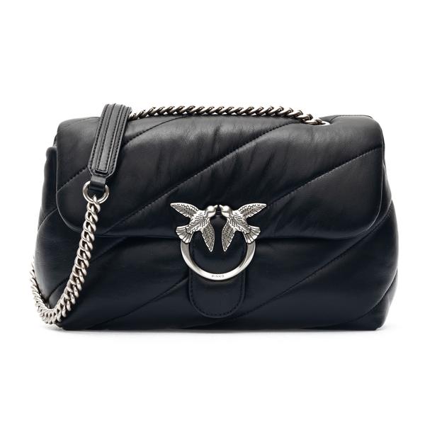 Black shoulder bag with silver logo                                                                                                                   Pinko 1P222W back