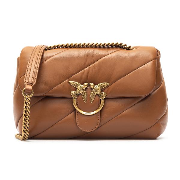 Brown quilted shoulder bag                                                                                                                            Pinko 1P227J back