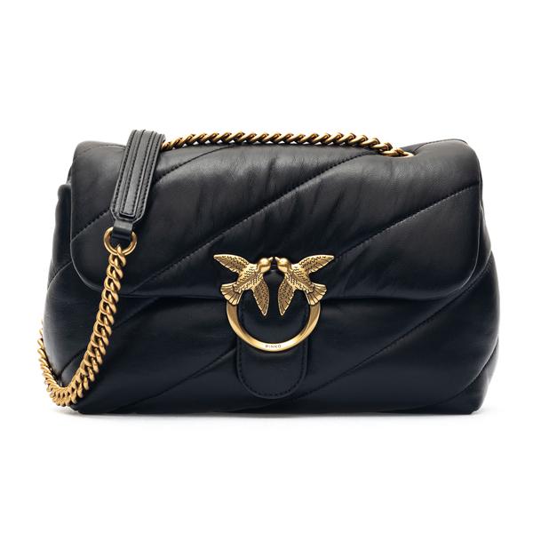 Black quilted shoulder bag                                                                                                                            Pinko 1P227J back