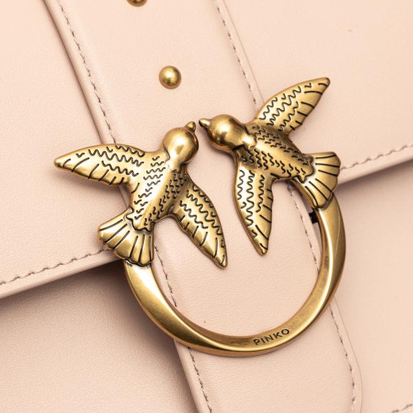 Light pink shoulder bag with gold logo                                                                                                                 PINKO