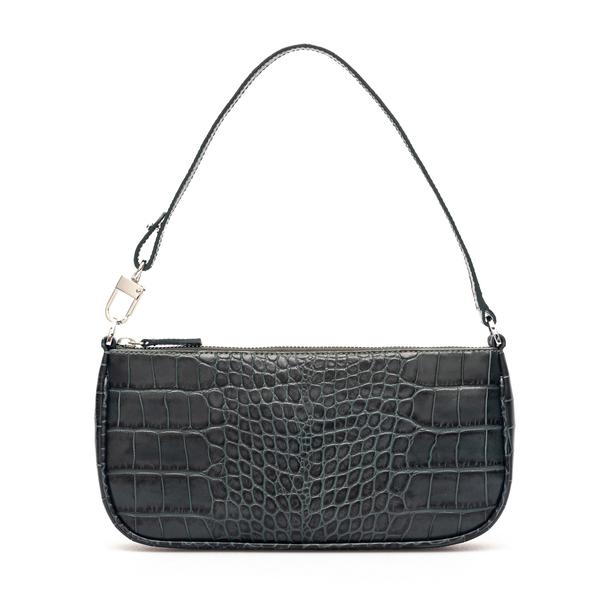 Grey crocodile effect shoulder bag                                                                                                                    By Far 20CRRCLSDNDMED back