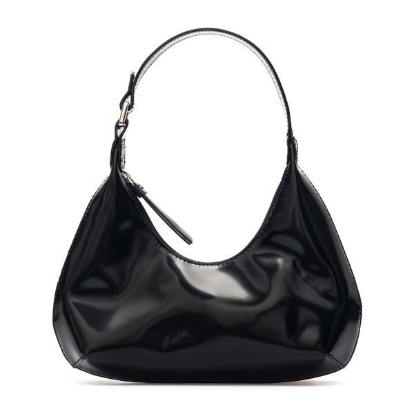 Black shoulder bag in shiny leather                                                                                                                   By Far 20PFBASBLWSMA back