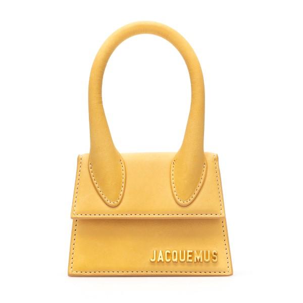 Mini yellow bag with gold logo                                                                                                                        Jacquemus 211BA01 back