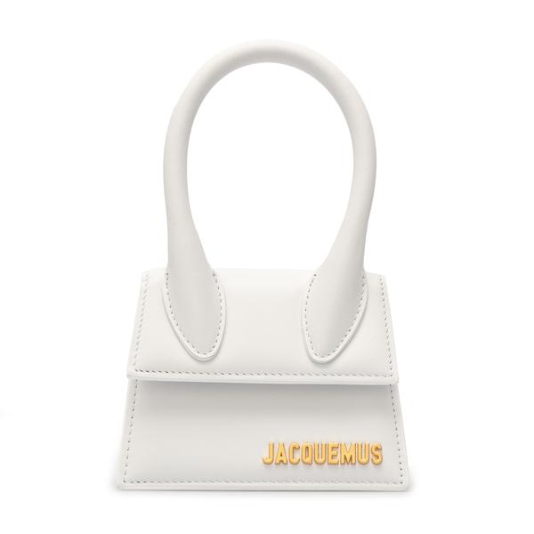 White mini bag with gold logo                                                                                                                         Jacquemus 211BA01 back