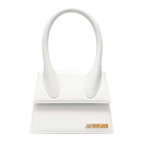 Borsa mini bianca con logo                                                                                                                            Jacquemus 211BA02 fronte