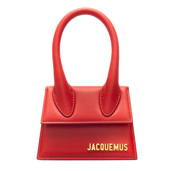 Borsa mini rossa con logo dorato                                                                                                                      Jacquemus 213BA01 retro