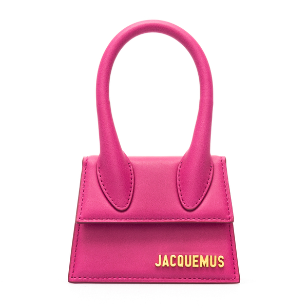 Fuchsia mini bag with gold logo                                                                                                                       Jacquemus 213BA01 back