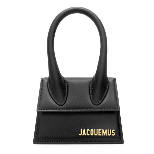 Borsa mini nera con logo oro                                                                                                                          Jacquemus 213BA01 retro