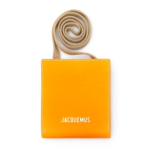 Orange mini shoulder bag with logo                                                                                                                    Jacquemus 215SL02 back