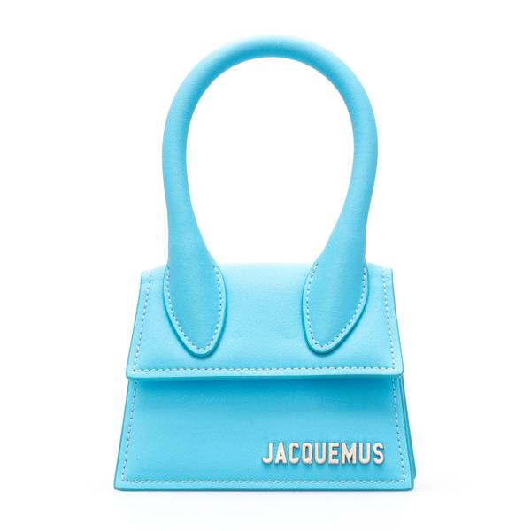 Borsa a tracolla azzurra con logo                                                                                                                     Jacquemus 216BA01 retro
