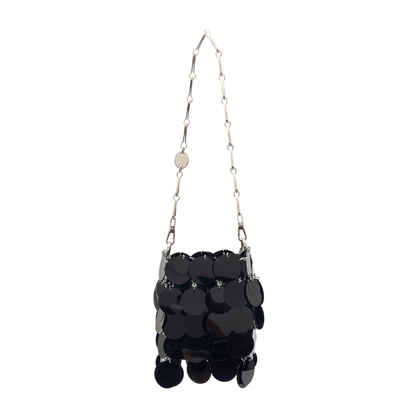 Mini bag with black sequins                                                                                                                           Paco Rabanne 21ASS0259PLX001 back