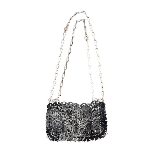 Shoulder bag in metallic design                                                                                                                       Paco Rabanne 21ASSO127MET205 back