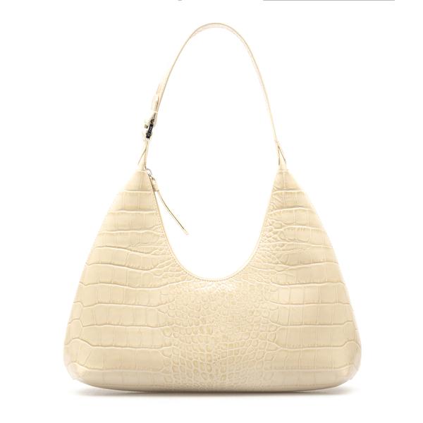 Ivory shoulder bag with crocodile effect                                                                                                              By Far 21CRAMRSCEDLAR back