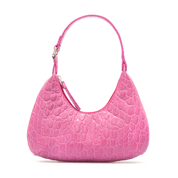 Pink crocodile effect shoulder bag                                                                                                                    By Far 21CRBASFCHDSMA back