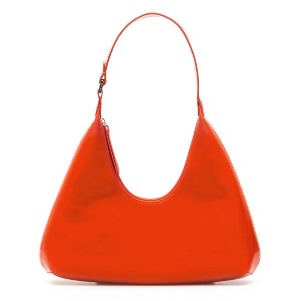 Borsa a spalla arancione in design curvo                                                                                                              By Far 21PFAMRSSCWLAR retro