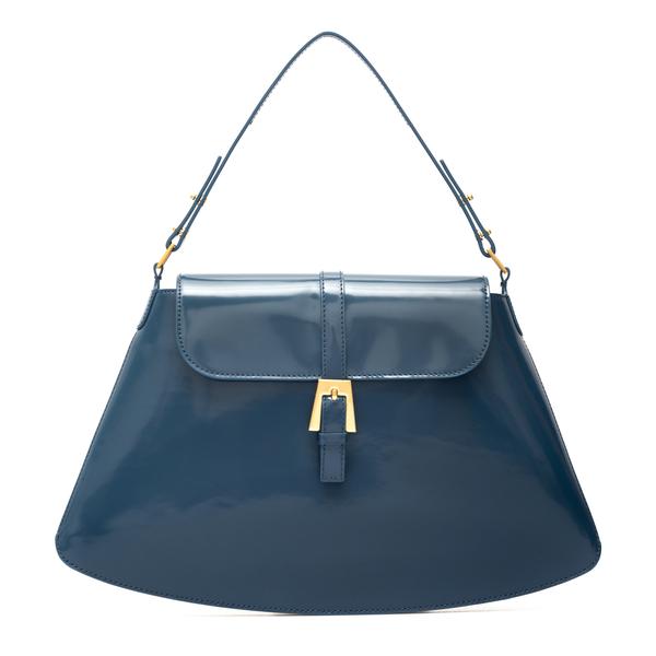 Shiny blue handbag                                                                                                                                    By Far 21PFPORSCBLWMED back