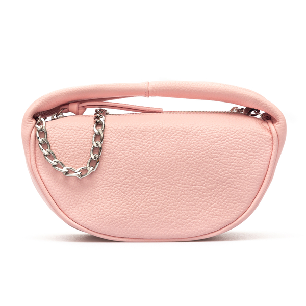 Pink shoulder bag with chain                                                                                                                          By Far 21SSBCUSSPOFLTMED back
