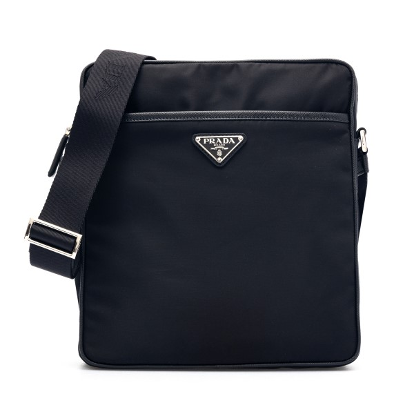 Black messenger bag with logo                                                                                                                         Prada 2VH002VOOM front