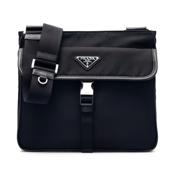 Black shoulder bag with logo                                                                                                                          Prada 2VH119 front