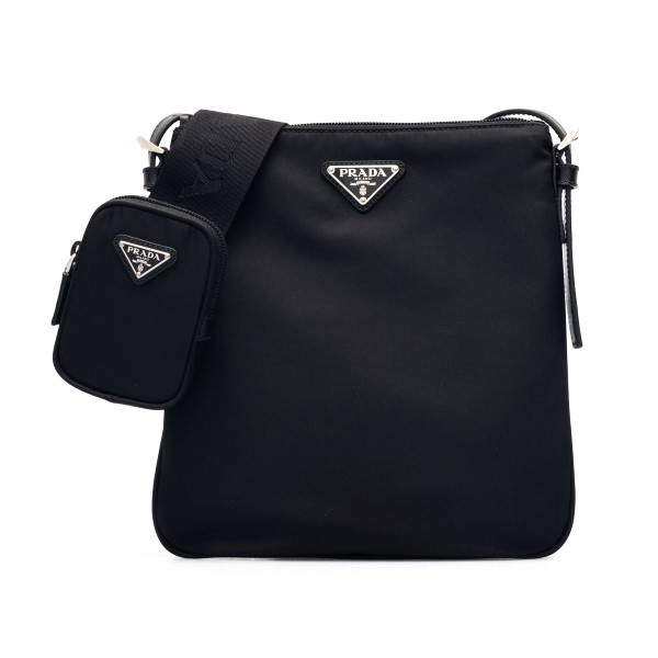 Black nylon shoulder bag with logo                                                                                                                    Prada 2VH124 front