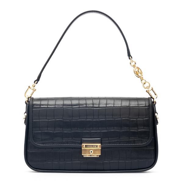 Black shoulder bag with crocodile print                                                                                                               Michael Kors 30F1G2BL1E back