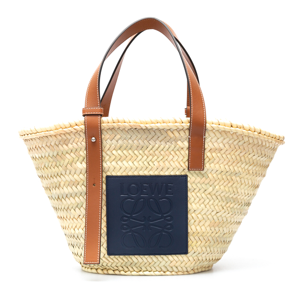 Basket tote bag with logo patch                                                                                                                       Loewe 327.02NS92 back