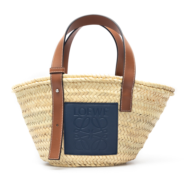 Basket Tote Bag With Blue Patch                                                                                                                       Loewe 327.02NS93 back
