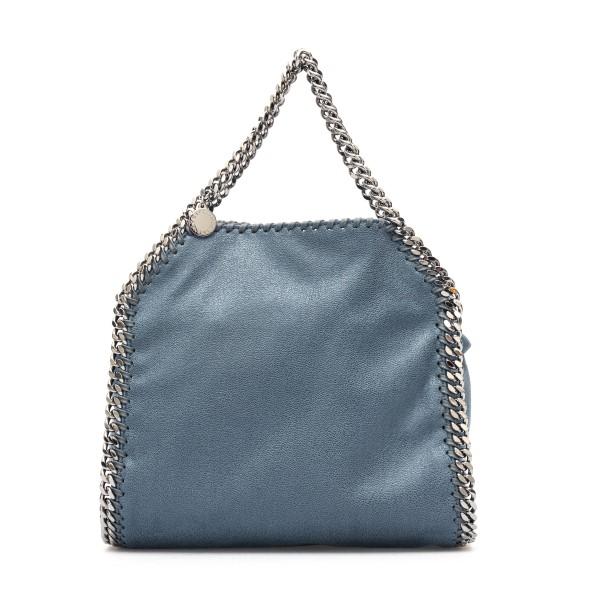 Borsa tote blu con rifiniture a catena                                                                                                                Stella mccartney 371223 fronte