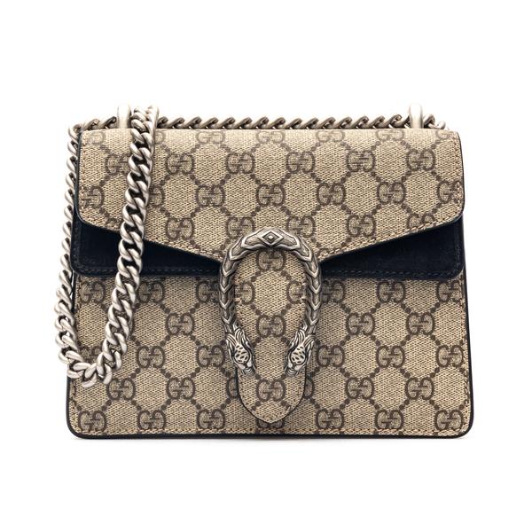 Beige shoulder bag with tiger plaque                                                                                                                  Gucci 421970 back