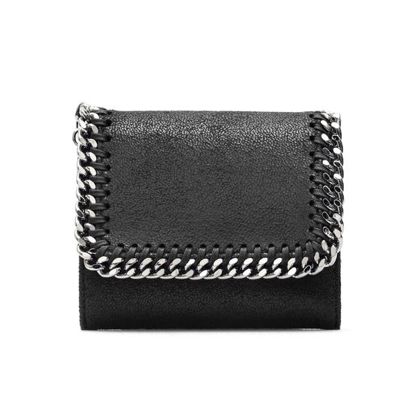 Portafoglio nero con catena                                                                                                                           Stella Mccartney 431000 retro
