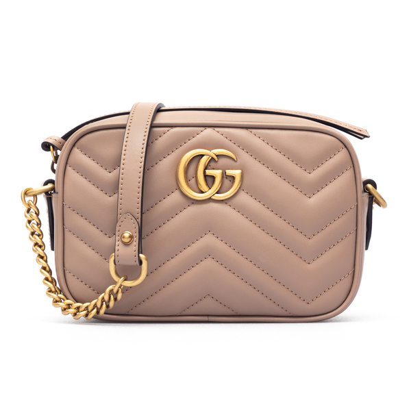 Pink shoulder bag with golden logo                                                                                                                    Gucci 447632 back