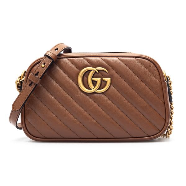 Brown shoulder bag with monogram                                                                                                                      Gucci 447632 back