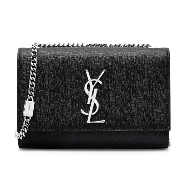 Black shoulder bag with monogram                                                                                                                      Saint Laurent 469390 back