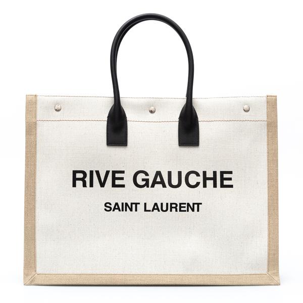 Linen tote bag                                                                                                                                        Saint Laurent 499290 back