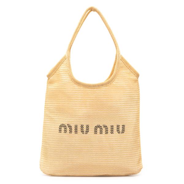 Straw tote bag with logo                                                                                                                              Miu Miu 5BG231 back