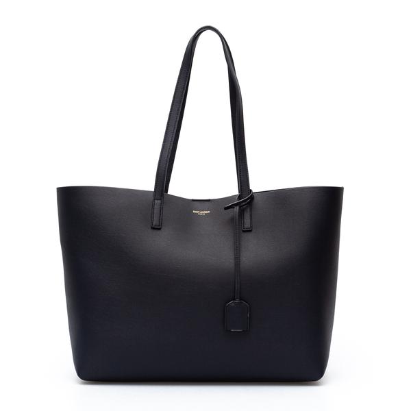 Black tote bag with logo application                                                                                                                  Saint Laurent 600281 back