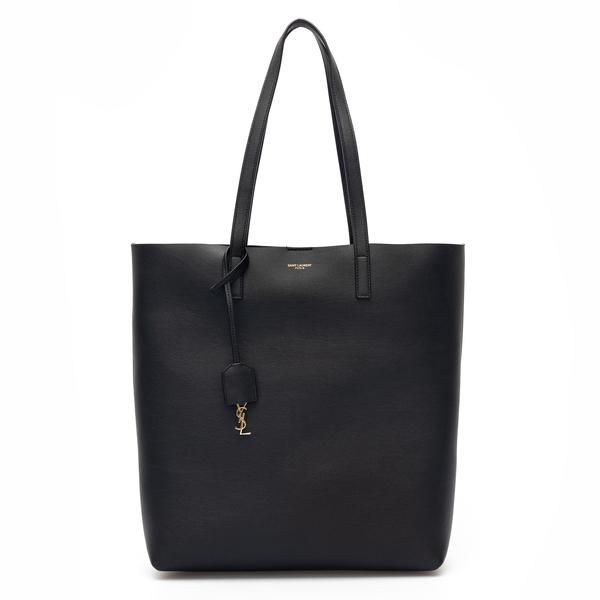 Black tote bag with logo charm                                                                                                                        Saint Laurent 600306 back