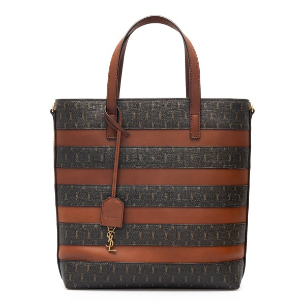 Two-tone striped tote bag with logo                                                                                                                   Saint Laurent 600307 back