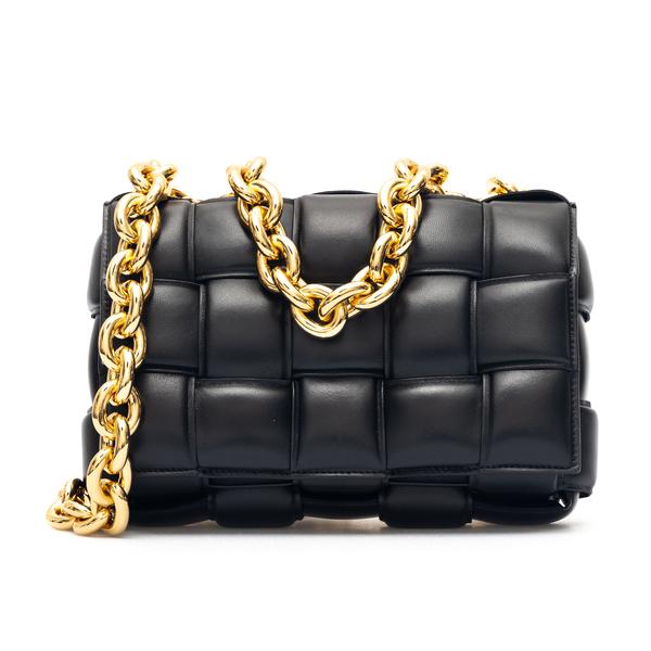 Black padded style shoulder bag                                                                                                                       Bottega Veneta 631421 back