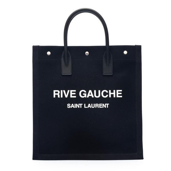 Black tote bag with brand name                                                                                                                        Saint Laurent 631682 back