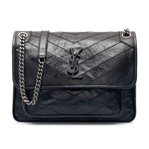 Black shoulder bag with black logo                                                                                                                    Saint Laurent 633158 back