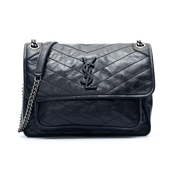 Black shoulder bag with stitching                                                                                                                     Saint Laurent 633158 back