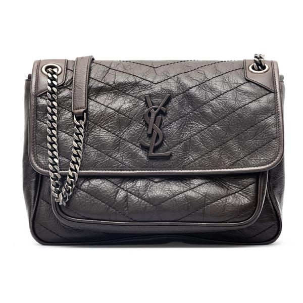 Black shoulder bag with tonal logo                                                                                                                    Saint Laurent 633158 back
