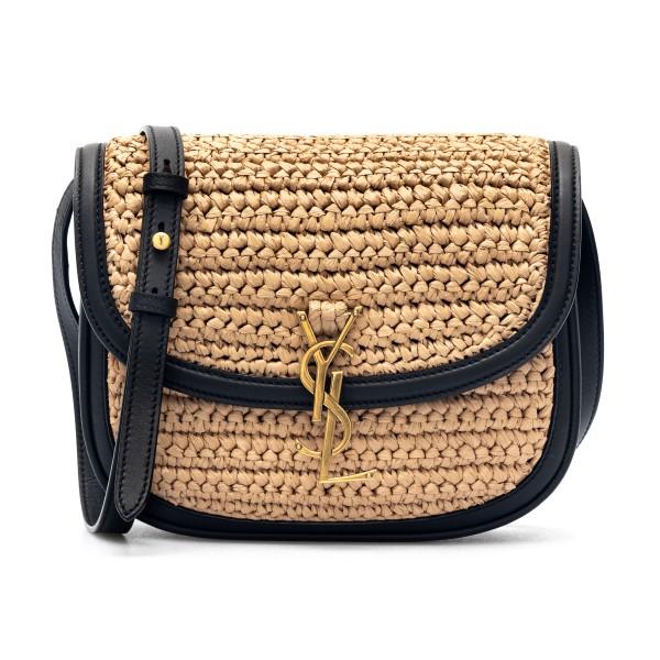 Straw bag with black leather trim                                                                                                                     Saint Laurent 634818 back